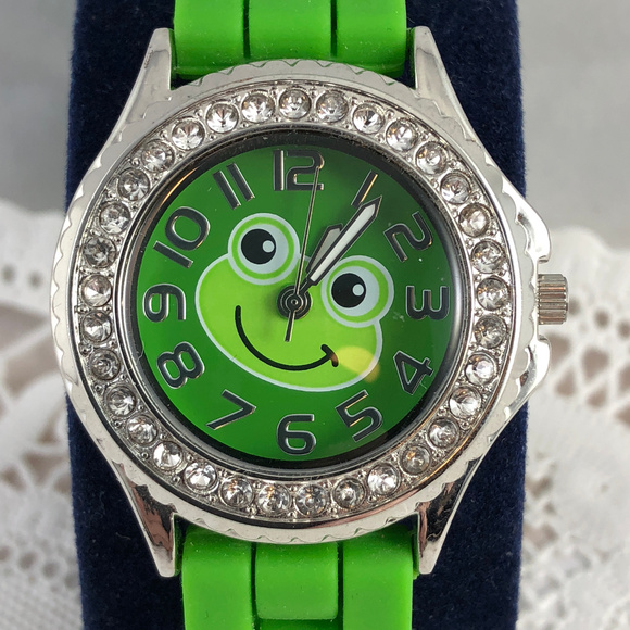 Accutime Watch Co Other - Frogs can Like Diamonds Silicone Band & Crystals